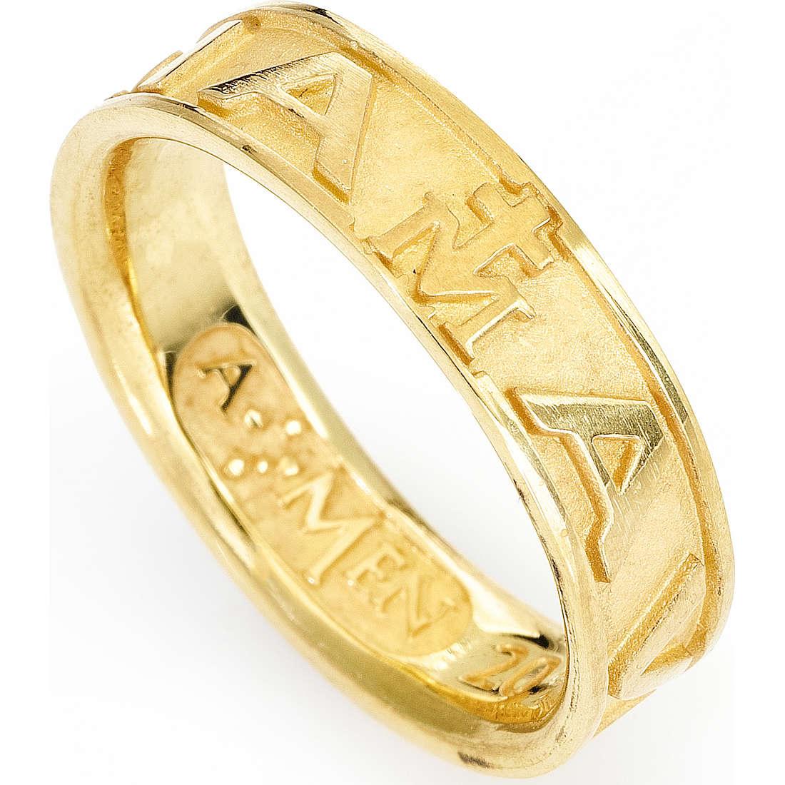 anello unisex gioielli Amen Ave Maria Italiano AVEG-14