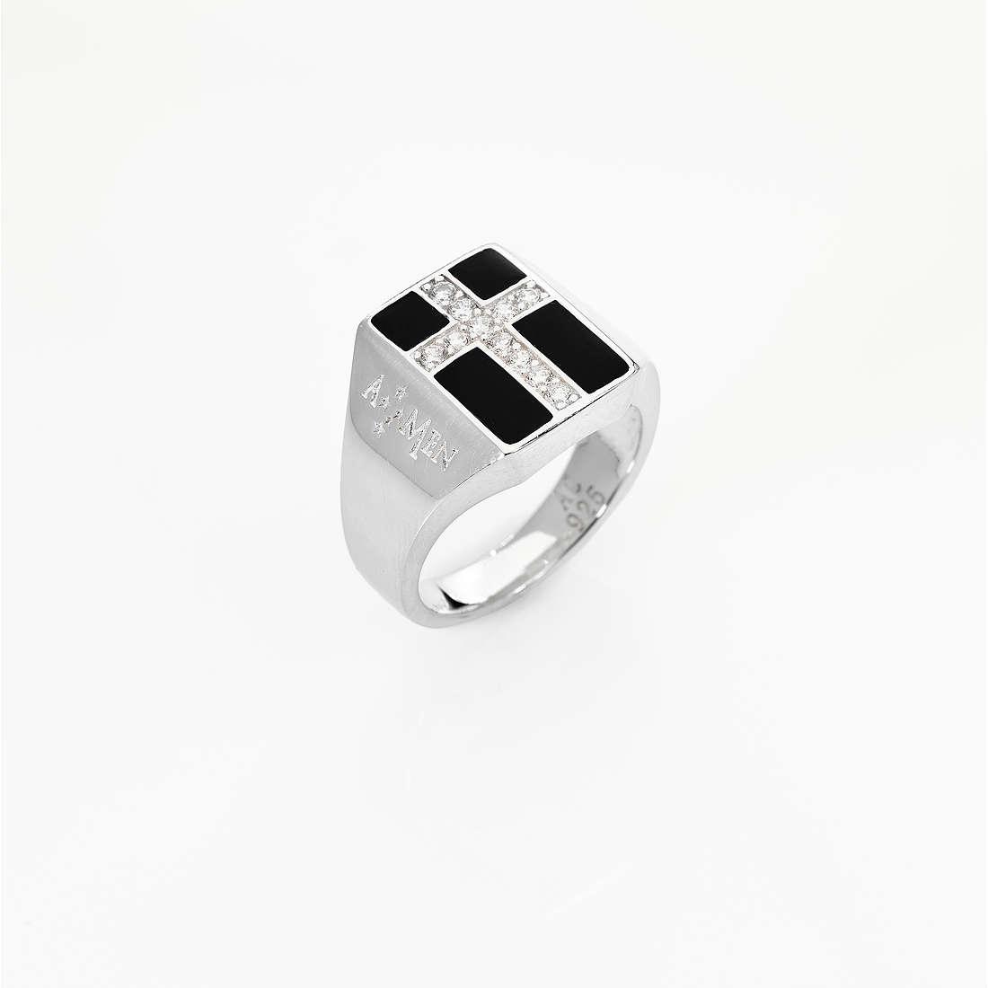 anello unisex gioielli Amen Croce ACRS-14