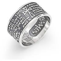 anello unisex gioielli Amen Padre Nostro Italiano PNB925-14