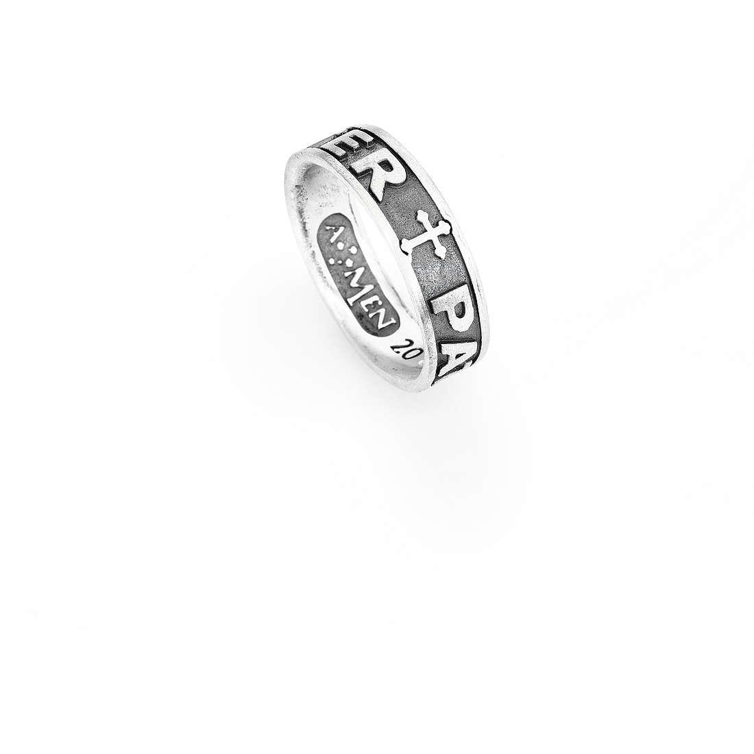 anello unisex gioielli Amen Padre Nostro Latino PAT-12