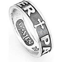 anello unisex gioielli Amen Padre Nostro Latino PAT-26