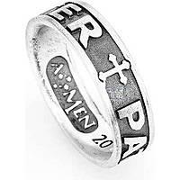 anello unisex gioielli Amen Padre Nostro Latino PAT-28