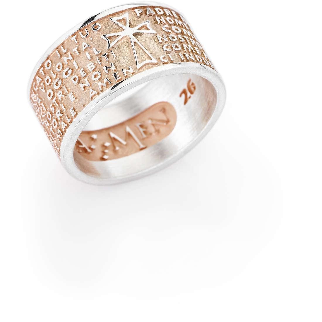 anello unisex gioielli Amen Padre Nostro PNR-14