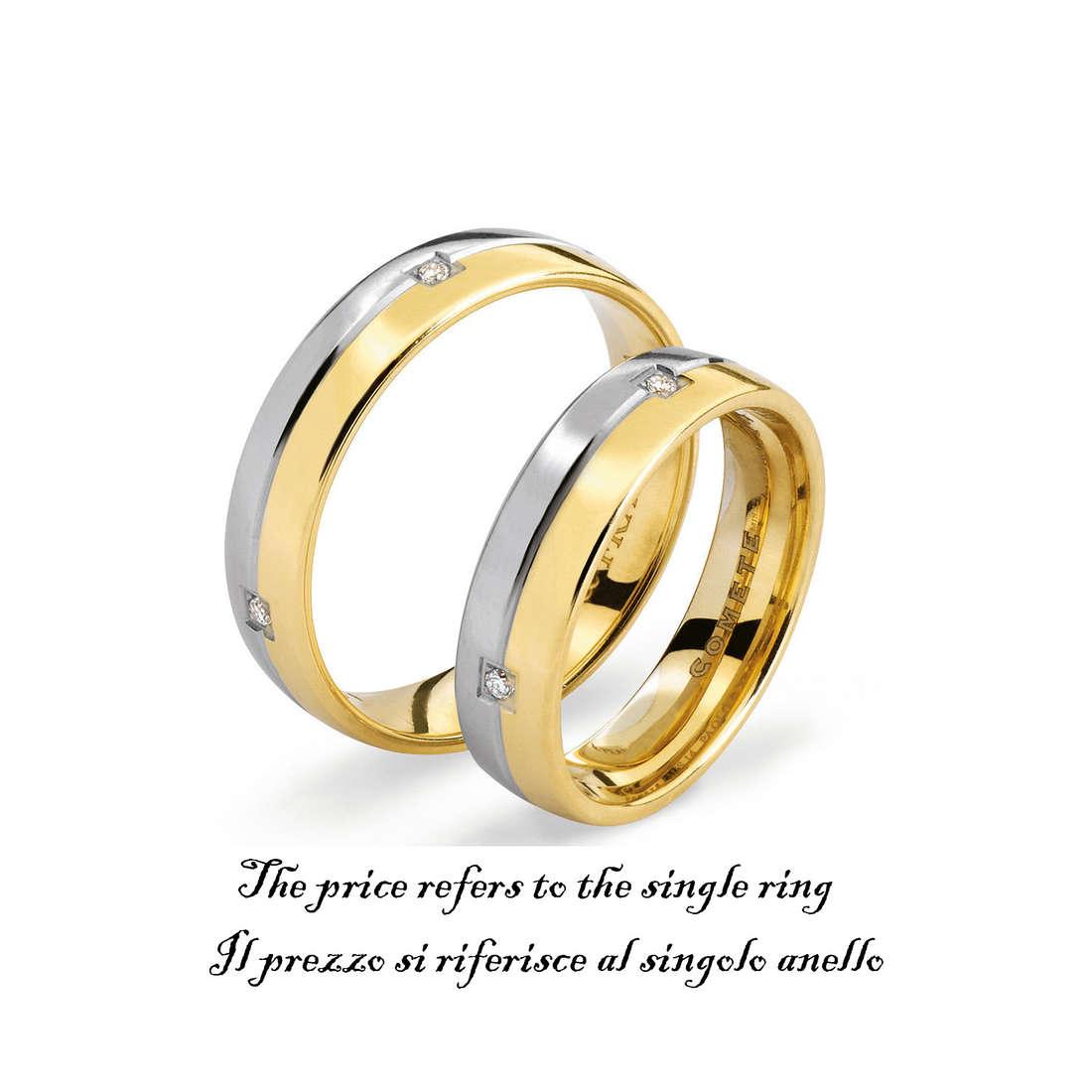anello unisex gioielli Comete Fedi ANB 1113BG M11