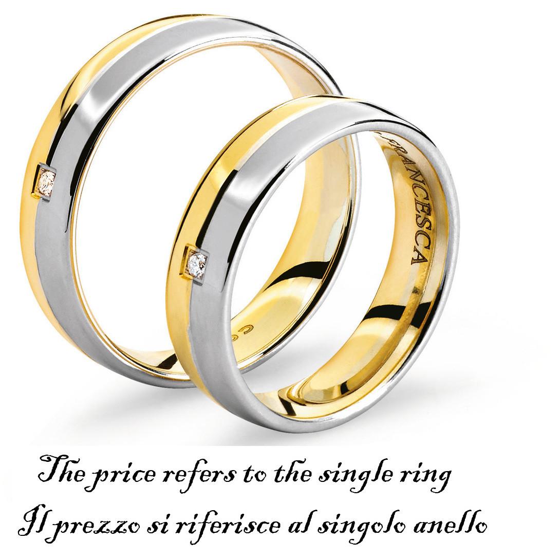 anello unisex gioielli Comete Fedi ANB 1114BG M11