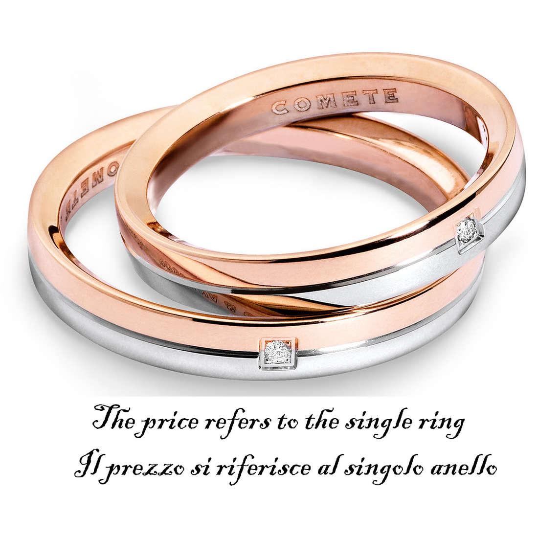 anello unisex gioielli Comete Fedi ANB 1124BR M11
