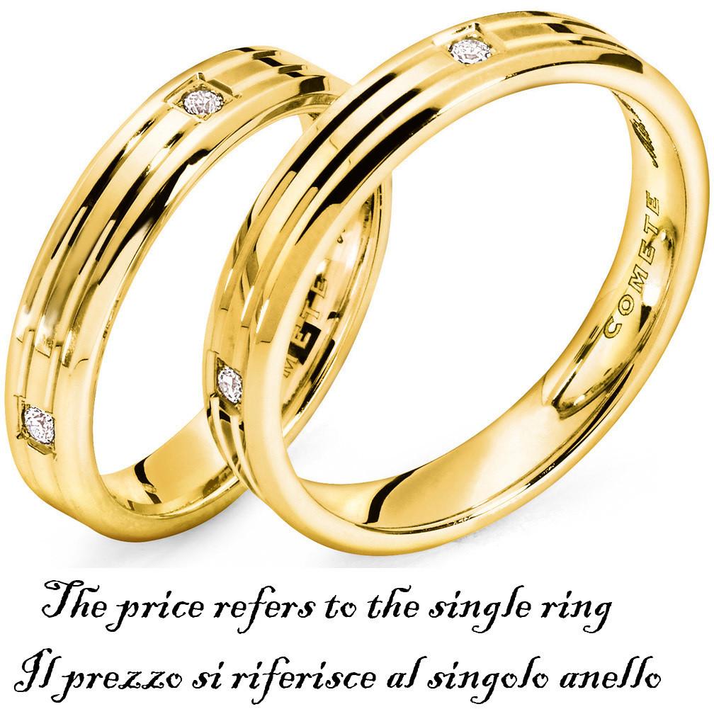 anello unisex gioielli Comete Fedi ANB 1126G M11