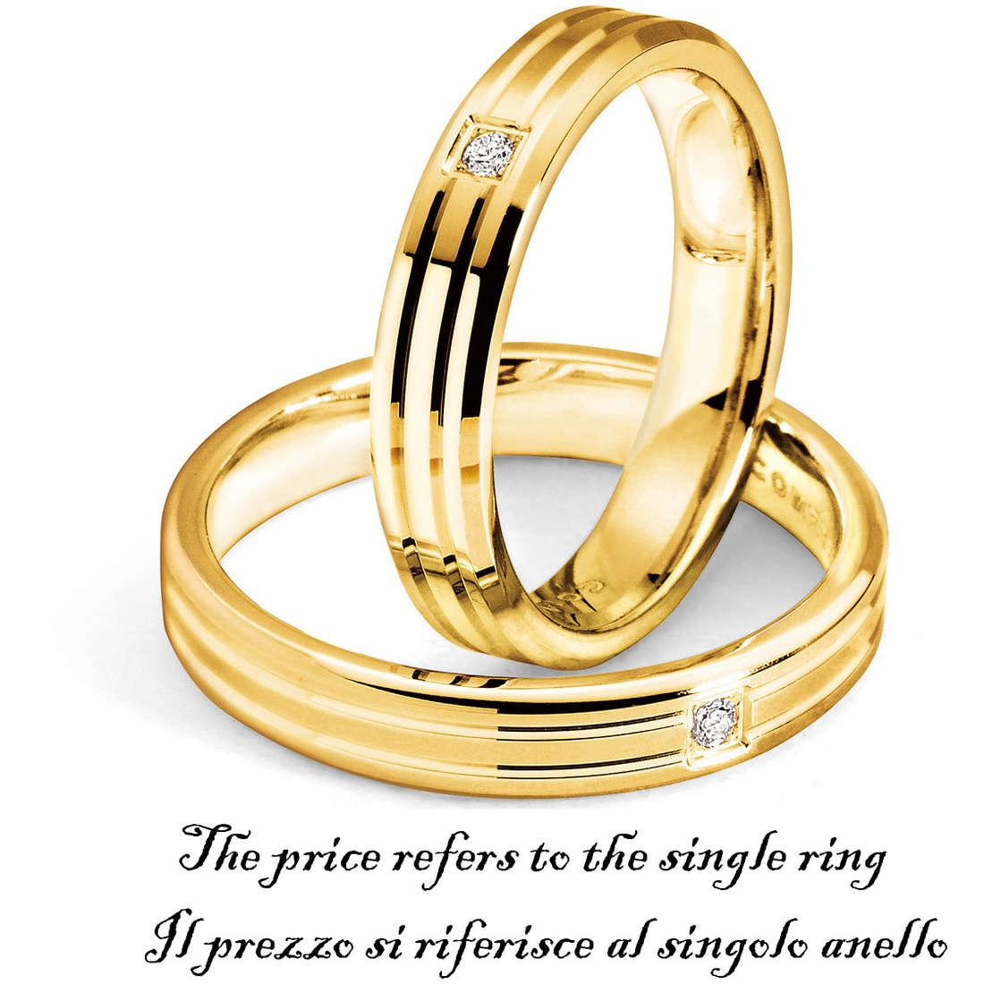 anello unisex gioielli Comete Fedi ANB 1127G M11