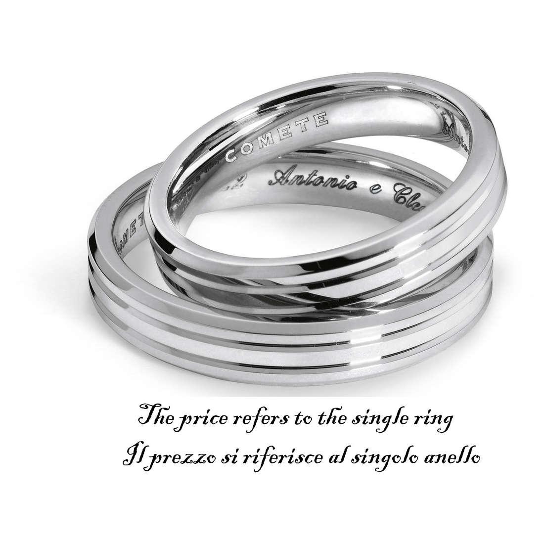 anello unisex gioielli Comete Fedi ANB 1128B M11
