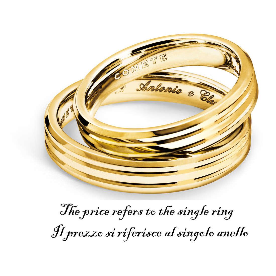 anello unisex gioielli Comete Fedi ANB 1128G M11