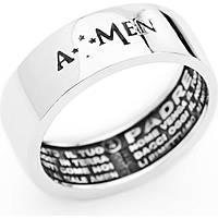 anello uomo gioielli Amen Padre Nostro APN-24