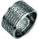 anello uomo gioielli Amen Padre Nostro PNNLA-26