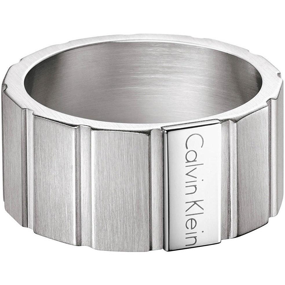 vente énorme regard détaillé bonne vente anello uomo gioielli Calvin Klein Plate KJ5SMR080111