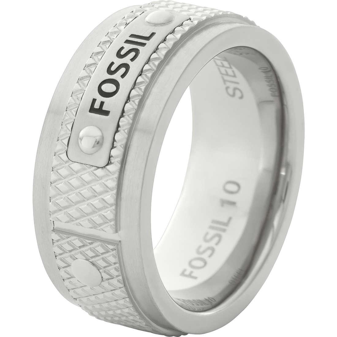anello uomo gioielli Fossil JF00065040512