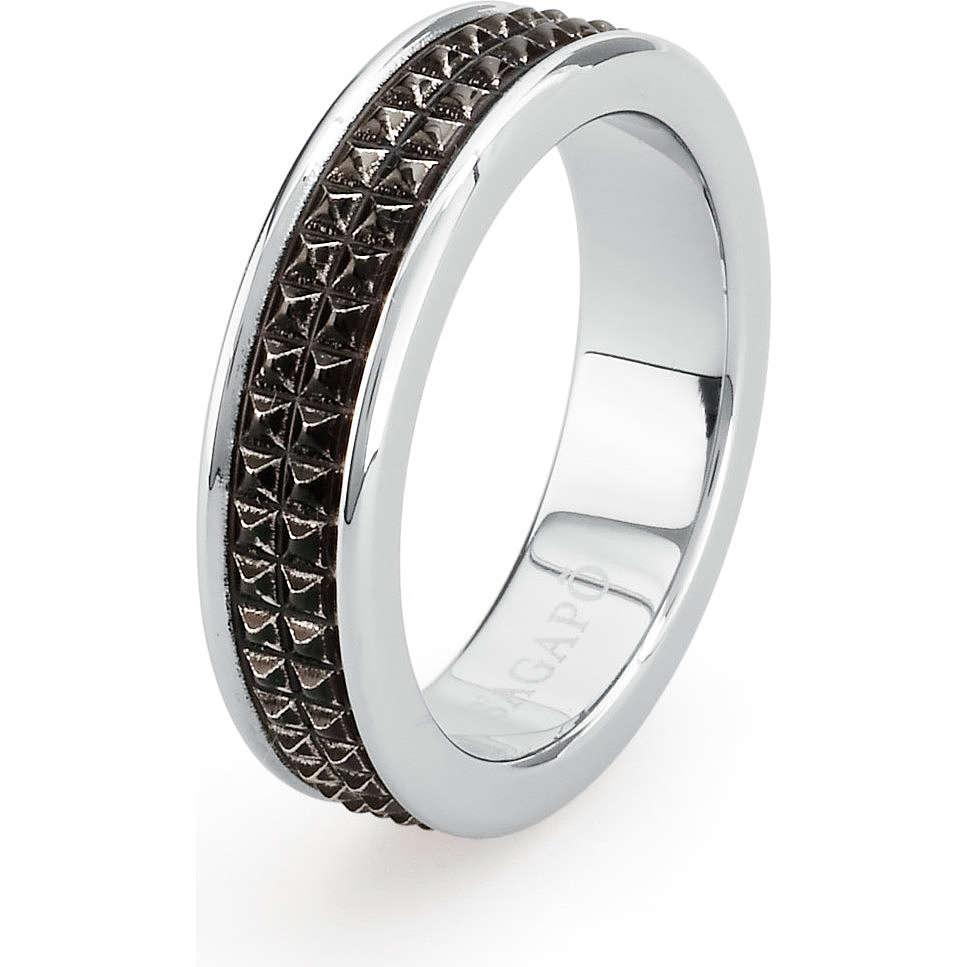 anello uomo gioielli Sagapò Bronx SBR02B