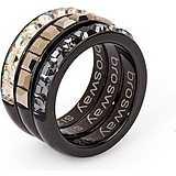 bague femme bijoux Brosway Tring Black Edition BTG12A