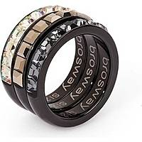 bague femme bijoux Brosway Tring Black Edition BTG12B