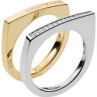 bague femme bijoux Emporio Armani Deco EG3325040505