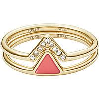 bague femme bijoux Fossil Fashion JF02920710505