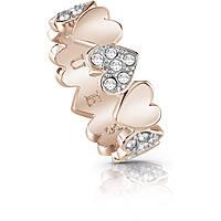 bague femme bijoux Guess Heart Bouquet UBR85025-52