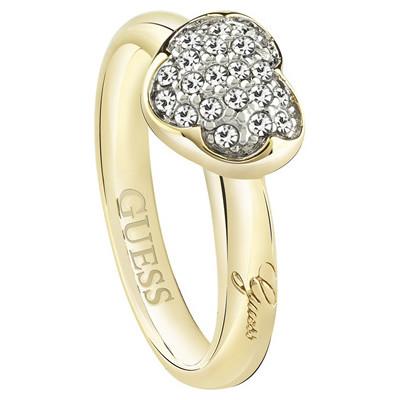 bague femme bijoux Guess Heartshelter UBR72502-54