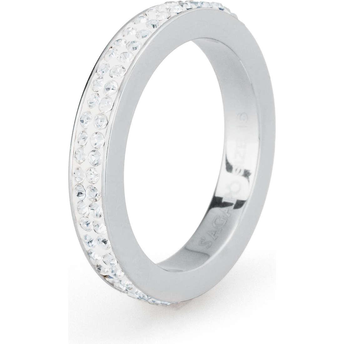 bague femme bijoux Sagapò Crystal ring SCR31B