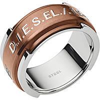 bague homme bijoux Diesel Steel DX1097040508