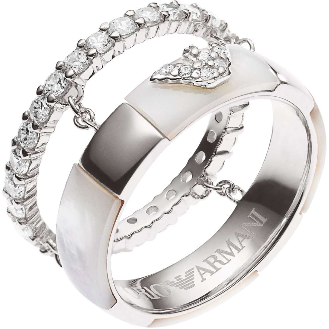 bague homme bijoux Emporio Armani EG3119040508