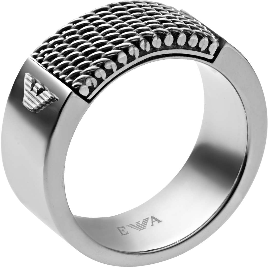 bague homme bijoux Emporio Armani Fall 2013 EGS1801040515
