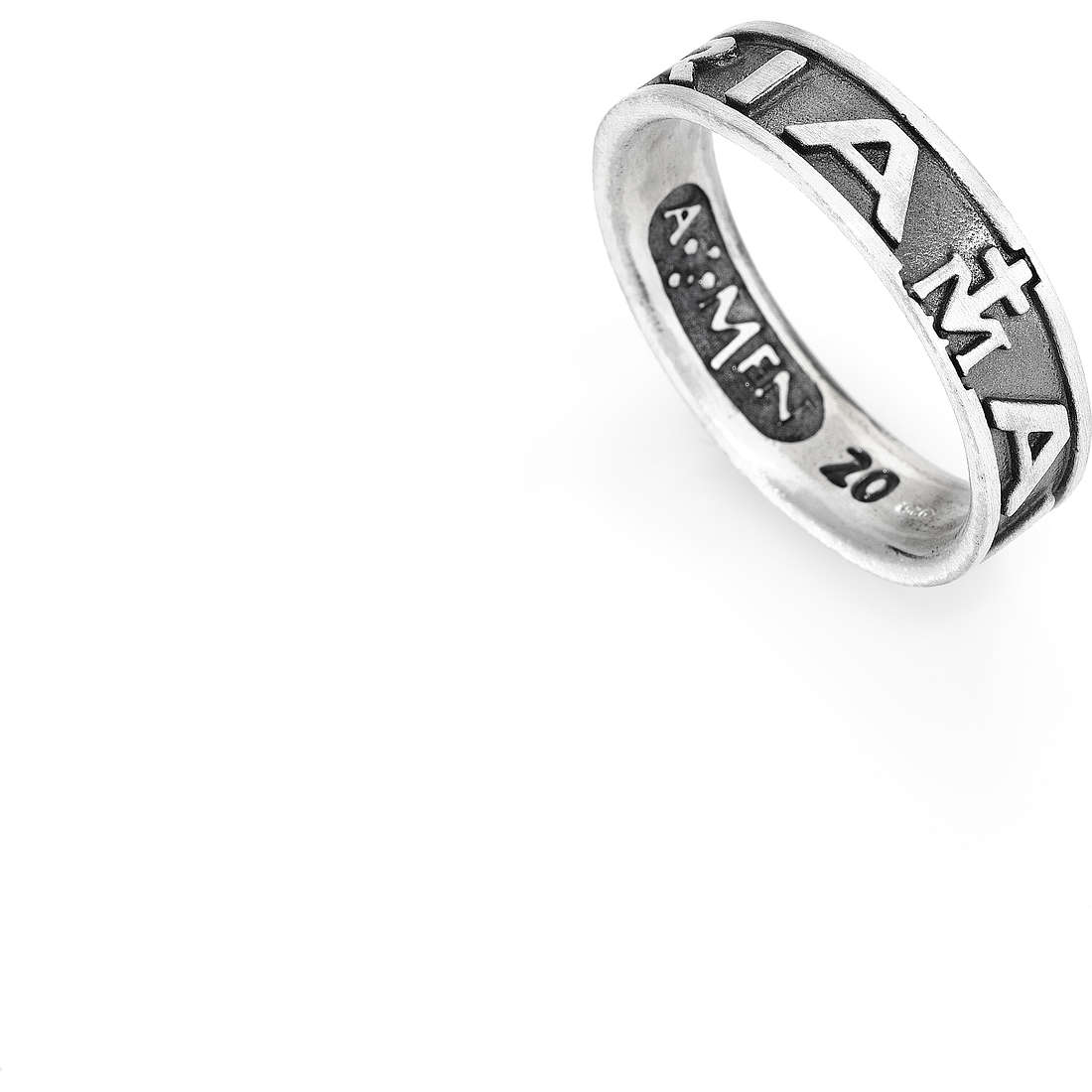 bague unisex bijoux Amen Ave Maria Italiano AVE-30
