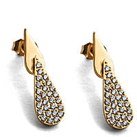 boucles d'oreille femme bijoux 4US Cesare Paciotti Gold Water 4UOR2024W