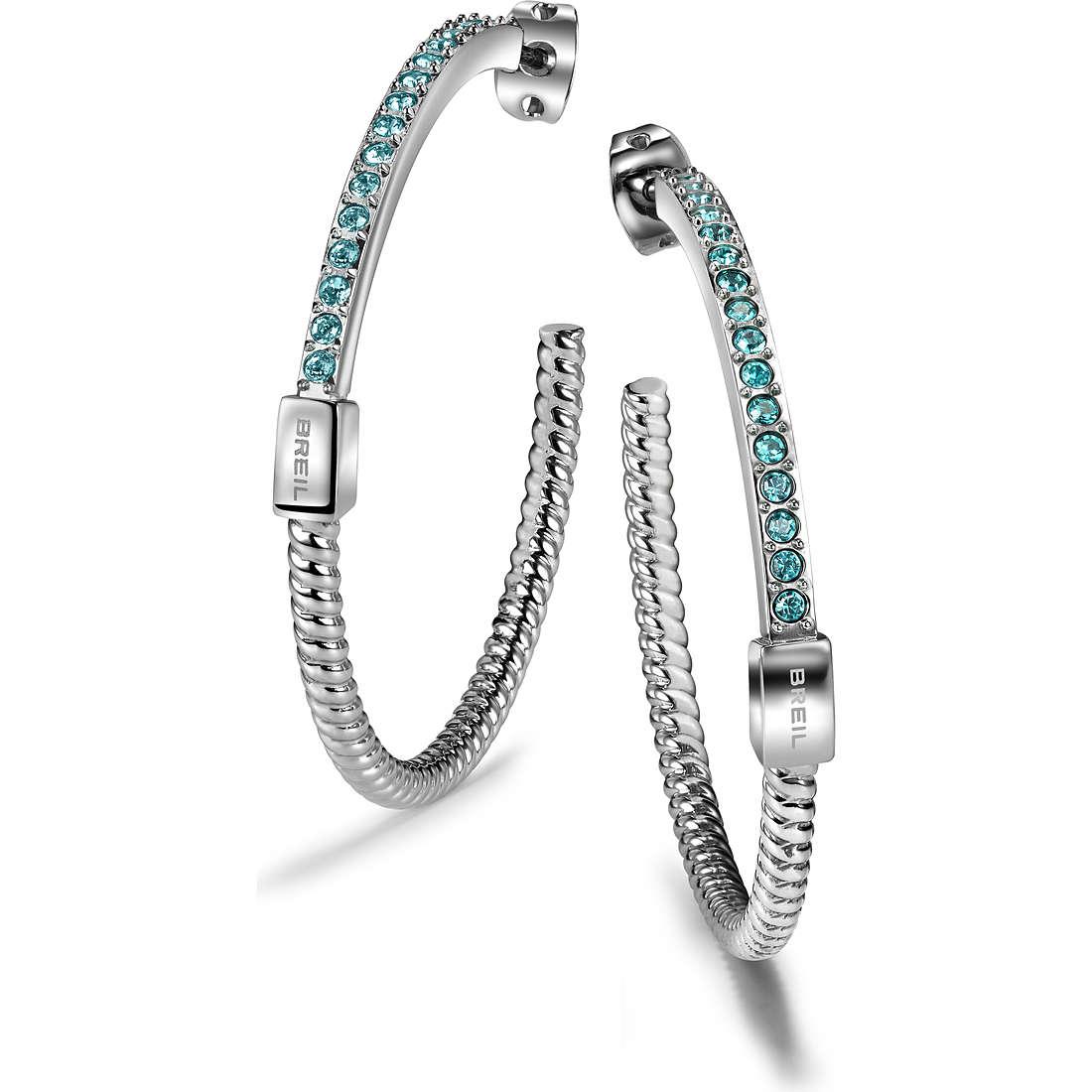 boucles d'oreille femme bijoux Breil Breilogy Torsion TJ1733