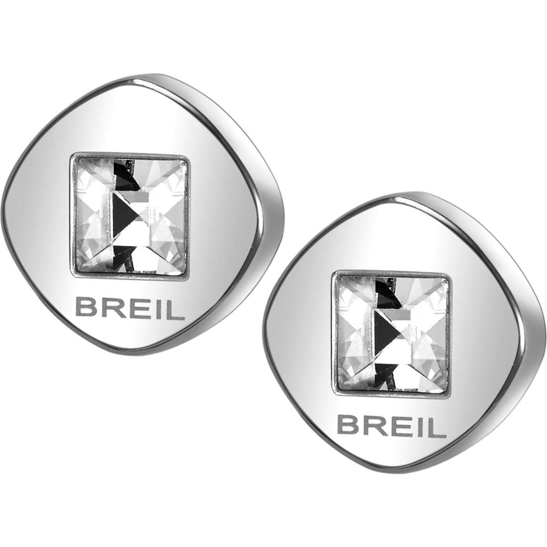 boucles d'oreille femme bijoux Breil Crossing Love TJ1581