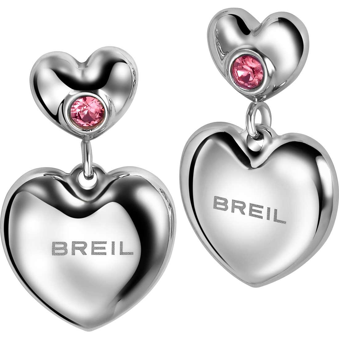 boucles d'oreille femme bijoux Breil Love Around TJ1704