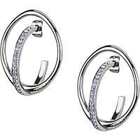 boucles d'oreille femme bijoux Breil Mezzanotte TJ2196