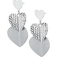boucles d'oreille femme bijoux Brosway Heart Beat BHB22