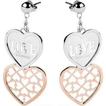 boucles d'oreille femme bijoux Brosway Lovecharm BLH01