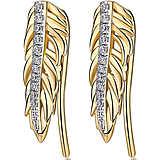 boucles d'oreille femme bijoux Brosway Plume BUM24