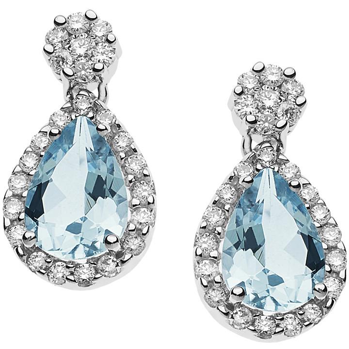 boucles d'oreille femme bijoux Comete Acquamarina ORQ 221