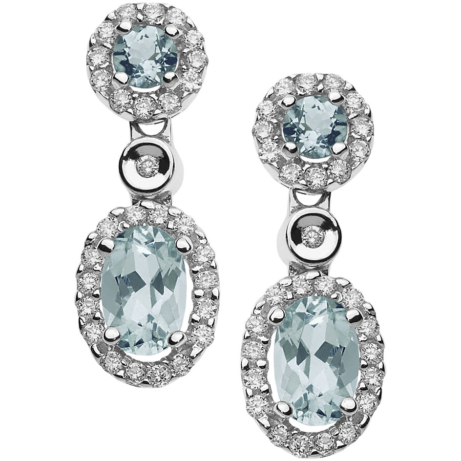 boucles d'oreille femme bijoux Comete Acquamarina ORQ 222