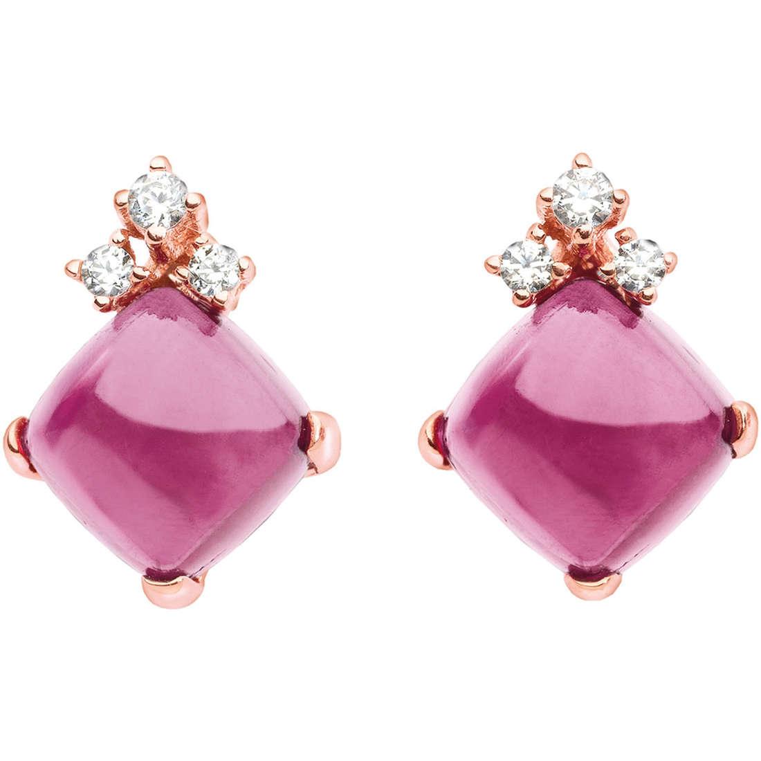 boucles d'oreille femme bijoux Comete Pietre preziose colorate ORB 595