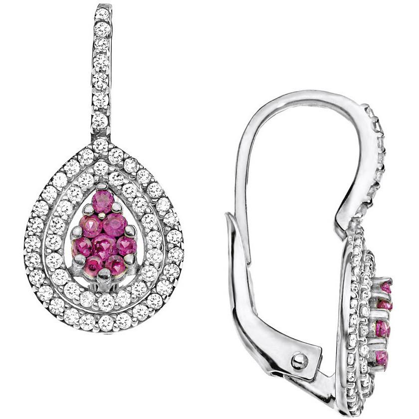 boucles d'oreille femme bijoux Comete Pietre preziose colorate ORB 677