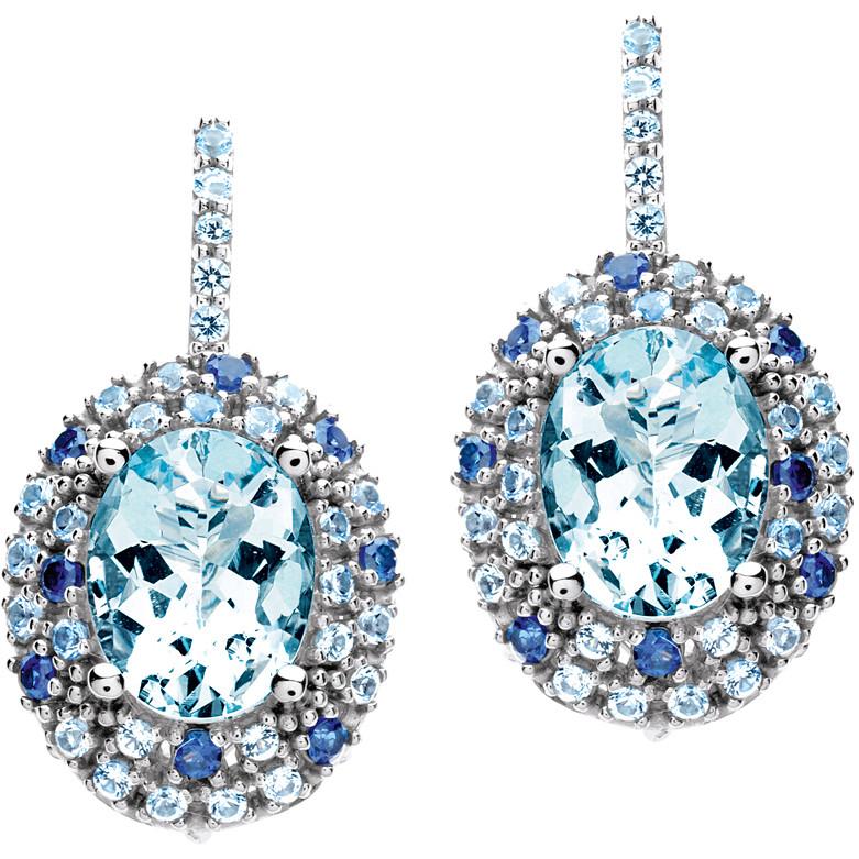 boucles d'oreille femme bijoux Comete Pietre preziose colorate ORQ 210