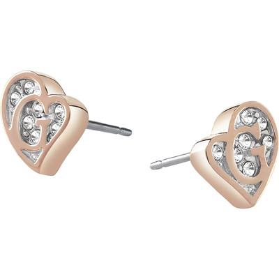 boucles d'oreille femme bijoux Guess G Hearts UBE71525