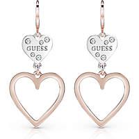 boucles d'oreille femme bijoux Guess Heart In Heart UBE84002
