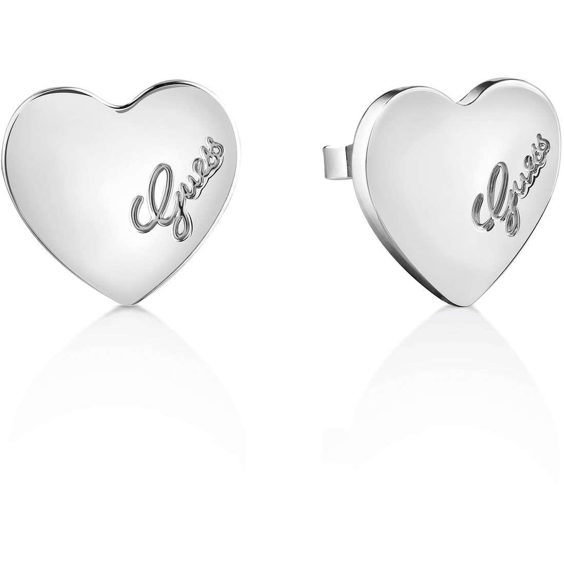 boucles d'oreille femme bijoux Guess Heartbeat UBE61053