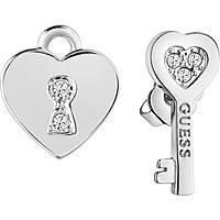 boucles d'oreille femme bijoux Guess Love Keys UBE83095