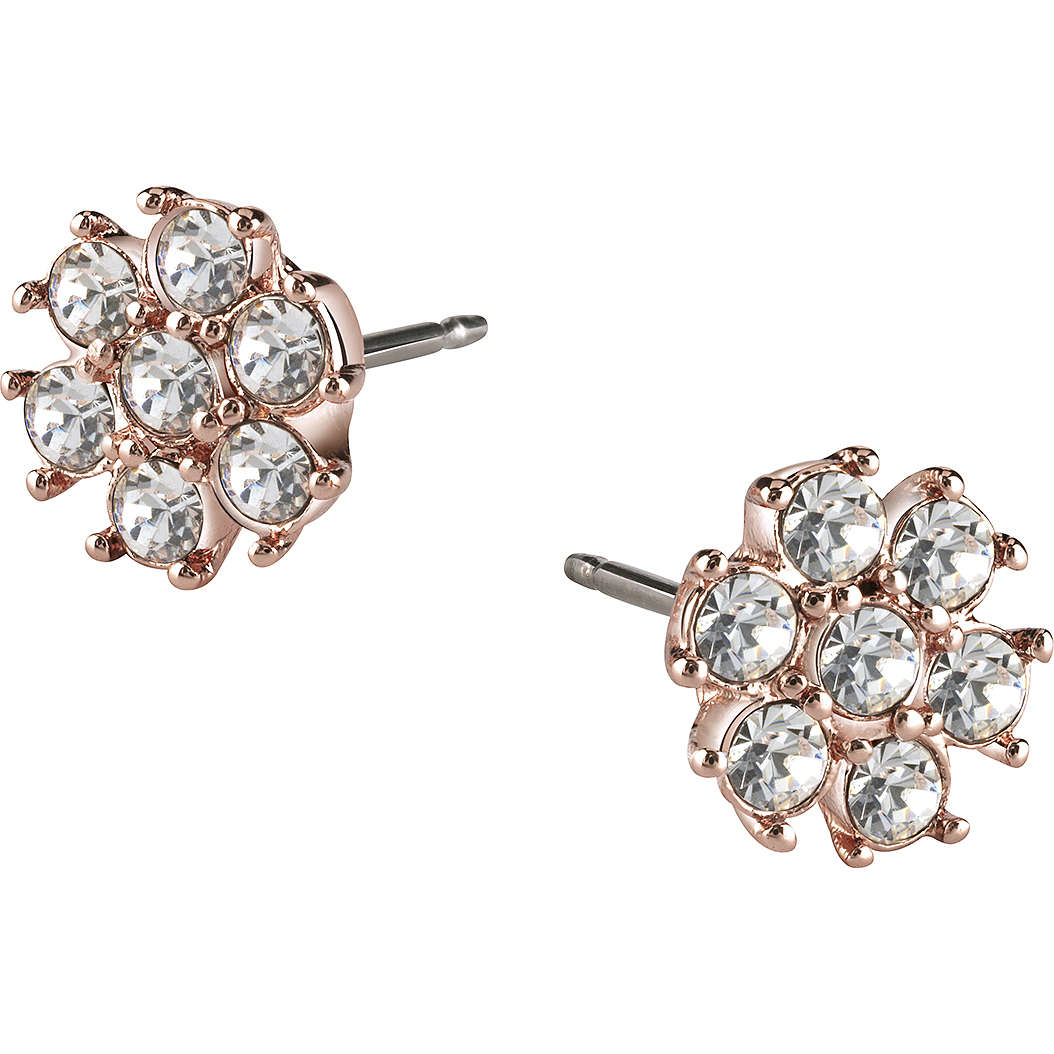 boucles d'oreille femme bijoux Guess Rose Gold UBE21543