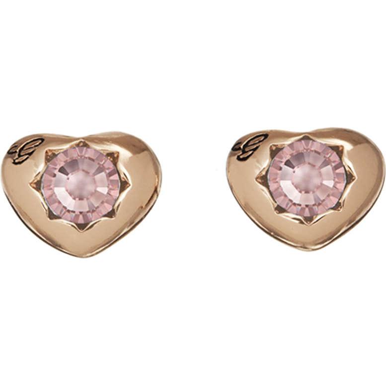 boucles d'oreille femme bijoux Guess Rose Gold UBE21547