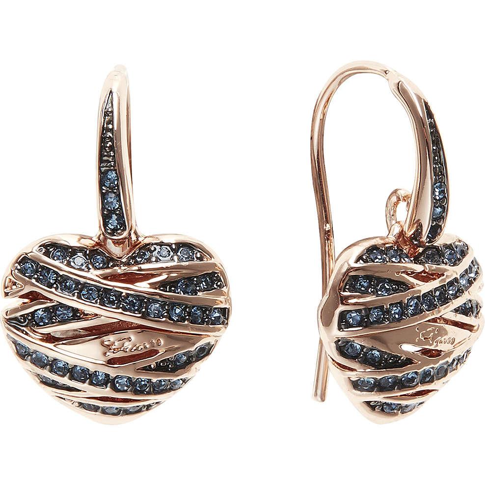 boucles d'oreille femme bijoux Guess Rose Gold UBE21584